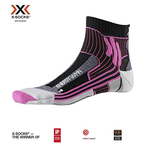 X-Socks Marathon Energy Women Socks, Donna, Opal Black/Flamingo Pink, 37-38