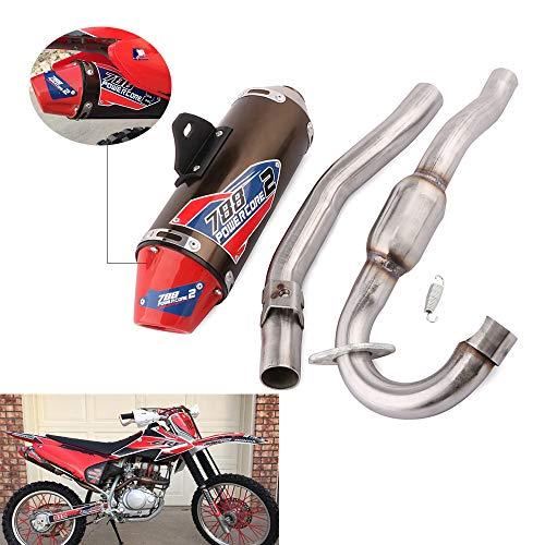 YSMOTO - Silenciador de escape para moto, de acero inoxidable, sistema completo para Honda CRF150F y CRF230F, 2003-2013, para motos de cross