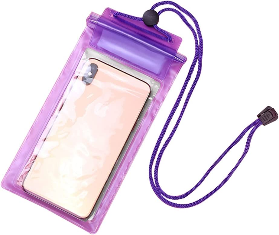 Waterproof Phone Pouch Universal 3 Layer Sealed Cellphone Dry Bag with Lanyard Transparent Cover Case for Swimming Drifting