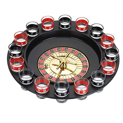 Juego de bebidas para fiestas, juego de ruleta rusa de 16 agujeros, juego de blackjack, juegos de beber, juegos de fiesta para adultos, juego de ruleta para adultos (incluye 2 bolas y 16 vasos)