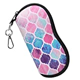 Fintie Glasses Case with Carabiner, Ultra Light Portable Neoprene Zipper Sunglasses Soft Case