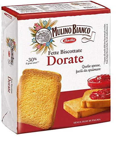 6x Mulino Bianco Fette Biscottate Le Dorate Zwieback kekse gebackenem Brot 315g