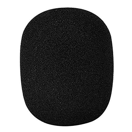 Cubierta de esponja gruesa no desechable gruesa Cubierta de micrófono a prueba de viento Cubierta de rociador de micrófono Ktv Cubierta de micrófono (negro)