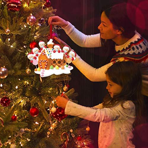 jayotai Personalized Family Members Name Christmas Ornament Kit, 2020 Quarantine Survivor Family Customized Christmas Decorating Set DIY Creative Gift