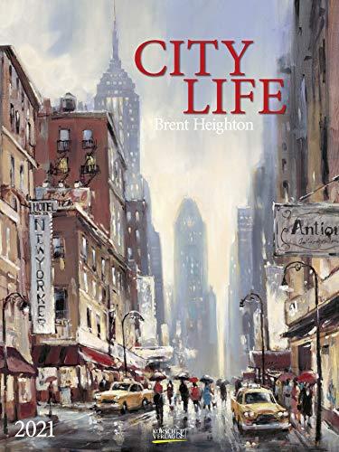 City Life 2021: Großer Kunstkalender. Hochwertiger Wandkalender mit Meisterwerken von Brent Heighton. Kunst Gallery Format: 48 x 64 cm.