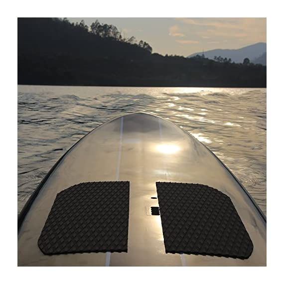 Abahub Non-Slip Traction Pad Deck Grip Mat 30in x 20in Trimmable EVA Sheet 3M Adhesive for Boat Kayak Skimboard… 2 SUPERIOR ANTI-SLIP TRACTION: In 3mm depth diamond grooves, this trimmable EVA pad provides a nice textured surface with excellent grip. CUSTOMIZE TO FIT: In size of 30''x 20'', it's trimmable and versatile. It's perfect for SUP boards, surfboards, boat decks, kayaks, skimboards, swimming pool steps, skateboards and more. PREMIUM QUALITY: Along with the brand new A-grade EVA material, all Abahub traction pads utilize certificated resin and original marine grade 3M self adhesive backing. Our processing experience also guarantees the superb stickiness won't be compromised by EVA dust generated during production.