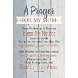 """Mom Prayer Wood Plaque with Inspiring Quotes 6""""x9"""" - Classy Vertical Frame Wall & Tabletop Decoration 
