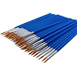 60 Pack Pointed-Round Art Paintbrushes for Detailing Painting,Miniature, Scale Model, Art Painting for Students,Artist,Beginners (60 Pieces ywllow Hair)