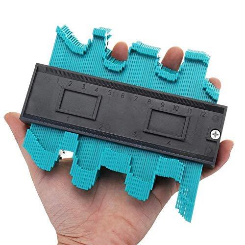 Kontur-Vervielfältigungslehre, Building Tiling Tools Profile Gauge 4 Zoll / 120 Mm Kunststoffkontur Kopieren Sie Das Duplikator-Werkzeug Für Kreisförmige Rahmenprofil-Messgeräte Kunststoff Konturkopie
