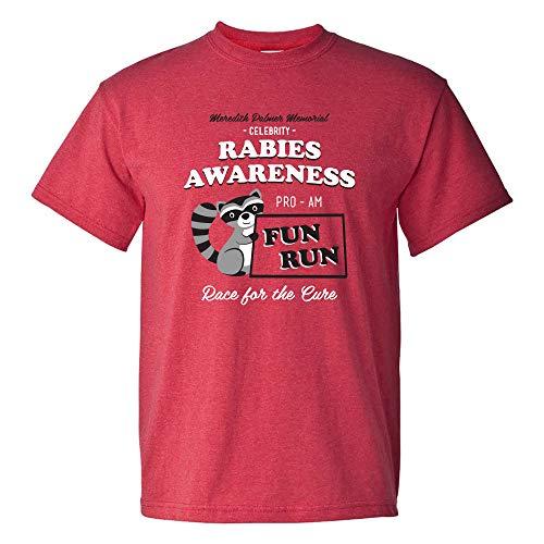 Rabies Awareness Fun Run - Funny TV Comedy Running T Shirt - Large - Heather Red