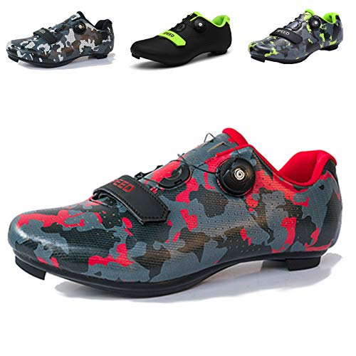 Mens Cycling Shoes, Road Bike Cycling Shoes for Men, Breathable Non-Slip Road and Mountain Bike Shoes, Bike Shoes with SPD and Delta Cleats Lock Pedal, Road Cycling Riding Shoes