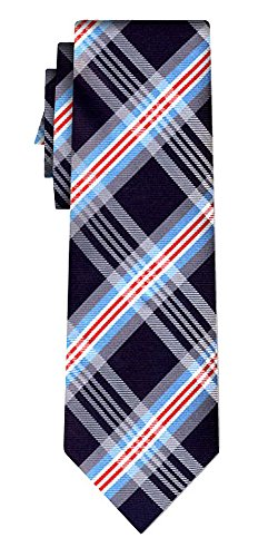 Cravate soie tartan pattern black sky