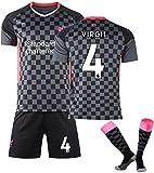 GXT Jersey Jersey de fútbol de los Hombres Jersey de 3 Piezas Liverpool # 4 Virgil Van Dijk Fans Soccer Sports Formning Wear Cómodo (Size : 3~4Years)