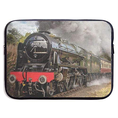 Steam Train Scottish 13-15 Inch Laptop Sleeve Bag - Tablet Clutch Carrying Case,Water Resistant, Black-13 Inch
