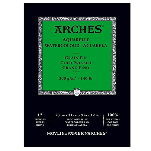 Arches Cold Press Watercolor Pad, 9'X12' 2-Pack