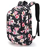 Tzowla Business Laptop Backpack Water Resistant Anti-Theft College Backpack with USB Charging Port and Lock 15.6 Inch Computer Backpacks for Women Girls, Casual Hiking Travel Daypack(A-Flower2)