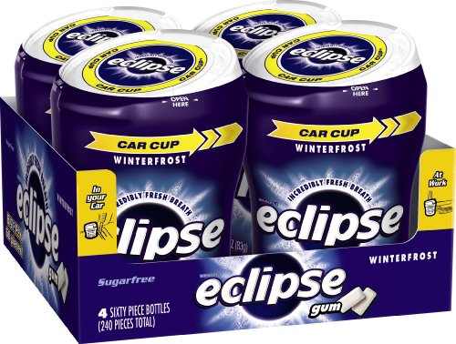 ECLIPSE Winterfrost Sugarfree Gum, 60 Count (Pack of 4)