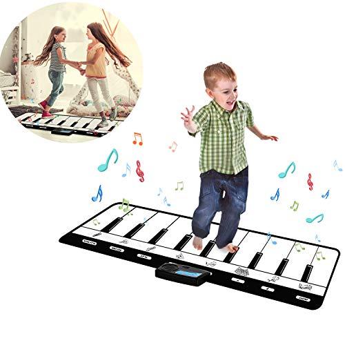WFGZQ Musikalische Tanzmatte, Übergroße Klavierspiel-Pads, Kinder-Klaviertastatur-Musik-Tanzspiel-Pad-Spielzeug, Lustige Elektronische Krabbelteppiche, Geschenke Für Kleinkinder Und Mädchen