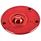 For KAWASAKI Z800 2013-2015 For Kawasaki Z1000 ZX6R Z750 2007-2012 Motorcycle Accessories CNC Aluminum Fuel Gas Cap Cover Fuel Tank Cap (Red)