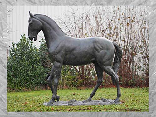 IDYL Escultura de bronce de caballo, 217 x 84 x 201 cm, figura de animal de bronce, hecha a mano, escultura de jardín, artesanía de alta calidad, resistente a la intemperie