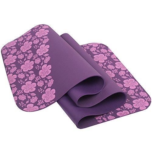 NBR antiscivolo insapore splendidamente stampato Ampliamento allungamento Tappetino yoga Fitness opaco, colore facoltativo