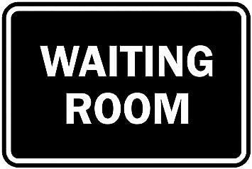 Signs ByLITA Victorian Waiting Room Sign Medium Black