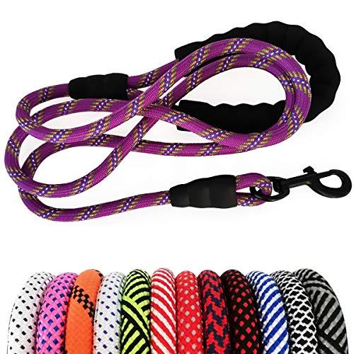 MayPaw Heavy Duty Rope Dog Leash, 6/8/10 FT Nylon Pet Leash, Soft Padded Handle Thick Lead Leash for...
