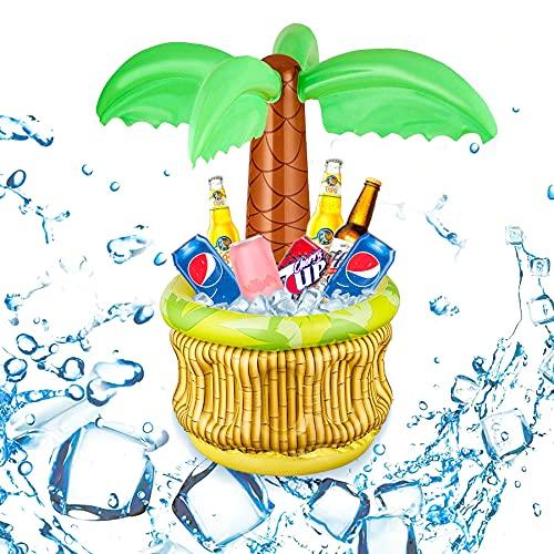 Aufblasbarer Getränkekühler,70X68cm Aufblasbare Palme mit Getränkekühler,Aufblasbarer Palmen-Kühler aus PVC,Aufblasbarer Hawaii Palmen,Aufblasbare Palme,Pool-Kühler für Sommer,Aufblasbarer Kühler