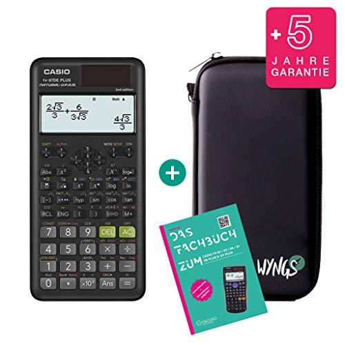 Casio FX-87DE Plus 2 (2nd Edition) + WYNGS Schutztasche + Garantieerweiterung auf 60 Monate + CALCUSO Fachbuch