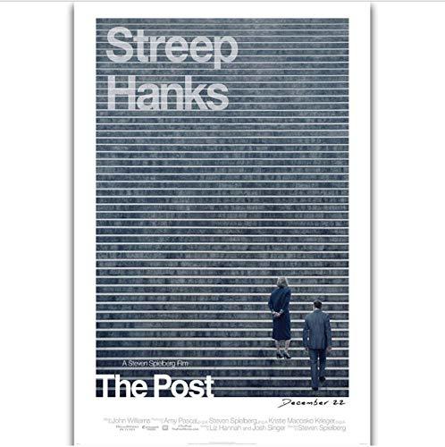 tgbhujk The Post Steven Spielberg Película Tom Hanks Meryl Streep Película Arte de la Pared Pintura Impresión en Lienzo de Seda Cartel Decoración del hogar 40X60Cm Sin Marco