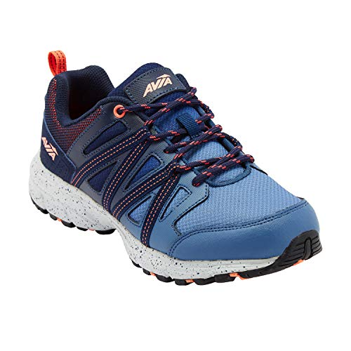 Avia Women's Avi-Vertex Running Shoe, Blue/Peacoat/Fusion Coral, 11 Wide