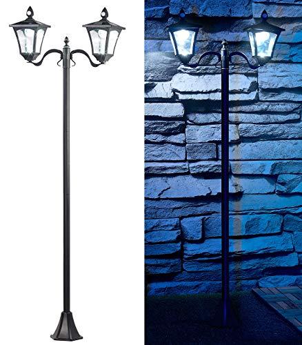Royal Gardineer Solar Laterne: Solar-LED-Gartenlaterne, 2 flammig, PIR- & Dämmerungssensor, 200 Lumen (Solarleuchte mit Bewegungsmelder)
