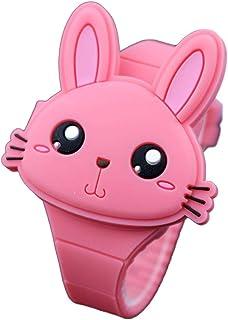 Orologio Bambino XYBB Orologio elettronico per bambini in gomma con copertura a conchiglia adorabile per orologio da bambina