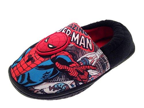 Hausschuhe für Kinder, Jungen, im Spiderman-Stil, Superhelden-Motiv, Schlupfschuhe, Kleinkindschuhe, Größe 18,5 bis 20,5, - Amazing Spiderman - Comic Scene - Bagged - Größe: 30 EU Kind