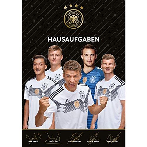 Deutscher Fußball-Bund DFB Weltmeister - Hausaufgabenheft Özil/Kroos/Müller Werner, Din A5