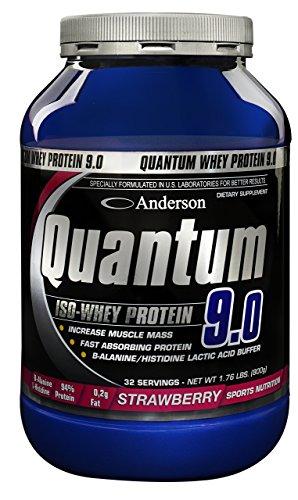 ANDERSON QUANTUM 9.0 2000g. Proteina del siero del latte W.P.I. Isolate Gusto Doppio Cioccolato.
