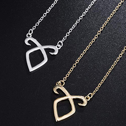 CCMOO Yiustar Simple Chain Bones Collar Mortal Instruments City Angelic Power Runes Shadowhunters Accesorios para