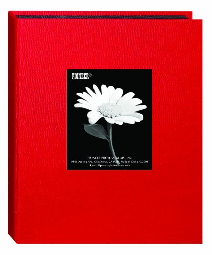 """5""""X7"""" 1-UP 24 PHOTOS MINI FABRIC FRAME ALBUM - APPLE RED - Photo Album"""
