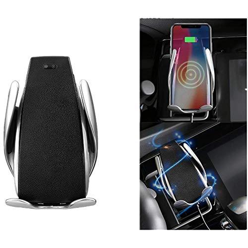 ONEVER Sensore a Infrarossi per Montaggio a Telefono Senza Fili Caricatore per Auto Supporto a Morsetto per Auto Supporto per Presa d'Aria Rotazione a 360 Gradi Solo per Dispositivi Qi