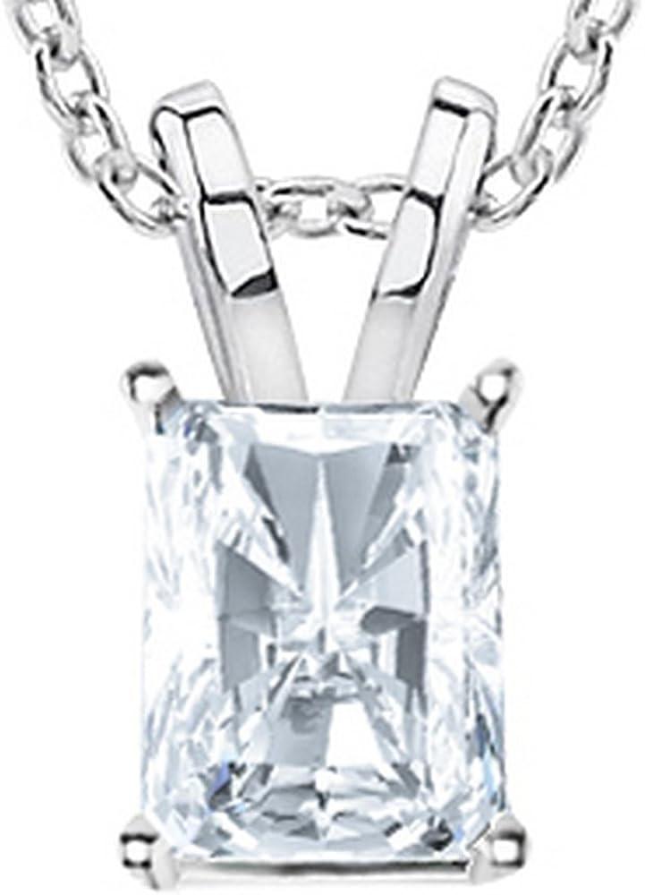 Virginia Beach Mall 1 2-3 Carat 14K White Gold Cut Pen Diamond Certified Radiant GIA Ranking TOP8
