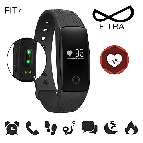 VANKE Activity Tracker , Fitness Tracker, Braccialetto Monitoraggio Battito Cardiaco e Rilevamento,Wireless Activity Wristband , Touchscreen Oled Intelligente Sport Braccialetto per Android e IOS
