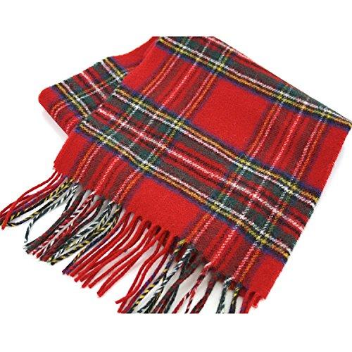 Schal aus gebürsteter Wolle, hergestellt in Schottland - - Einheitsgröße
