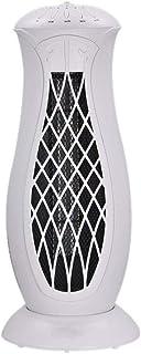 HM&DX Oscilante Ventilador De Torre, Cerámica De PTC Calefactor Ventilador Y Enfriador Inclinar-Sobre Cierre De Protección Silence Calefactor Eléctrico para Inicio Dormitorio Oficina