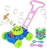 ATCRINICT HOMOFY Machine à bulles de savon pour tondeuse à gazon Jouet d'extérieur Machine à bulles automatique Jouet pour enfants de 2 3 4 5 ans