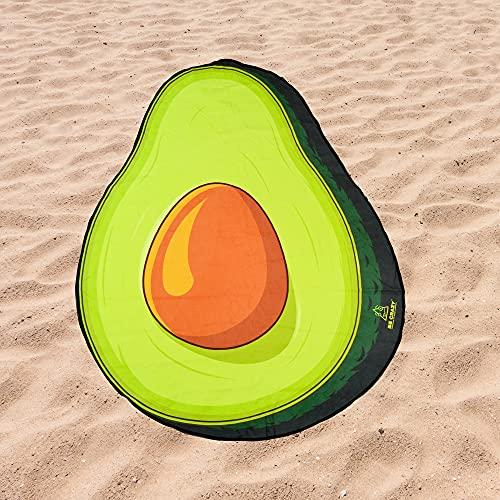 Toalla de Playa Microfibra Forma de Aguacate - Fabricado en Poliéster y Nylon, 150x118 cm.