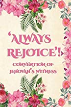 Always Rejoice Convention Of Jehovah's Witnesses: JW Gifts Regional Convention Of Jehovah's Witnesses 2020 Notebook Gift | Jehovah's Witnesses Gifts. Pink