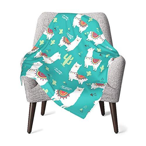Manta de bebé para niños y niñas, linda llamas guardería mantas para el hogar linda manta de cama para bebés sofá de peluche 30 x 40 pulgadas
