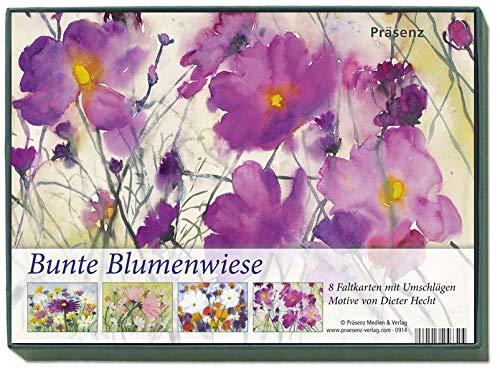 KK-Box Bunte Blumenwiese: 8 Faltkarten mit Umschlägen von Dieter Hecht