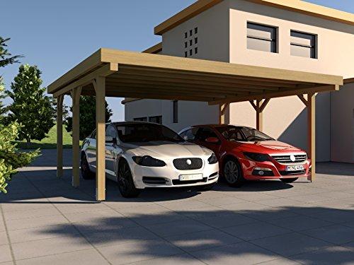 #Carport Flachdach SILVERSTONE II 600×500 cm Bausatz Flachdachcarport#