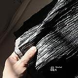 Meterware als Dekostoff- Schwarzes Dreidimensionales Leder